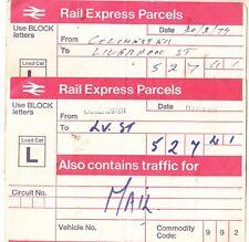 RAIL EXPRESS PARCELS  (consignment labels)
