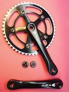 Sugino Mighty Comp 165mm / 48T track chainset - bicycle NOS