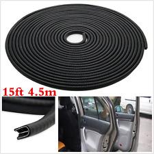 15ft/4.5m Black Car SUV Door Edge Rubber Seal Strip Moulding Pinchweld Trim Seal