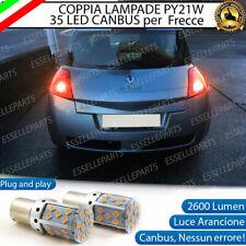 COPPIA LAMPADE PY21W CANBUS 35 LED RENAULT MEGANE MK2 FRECCE POSTERIORI NO ERROR