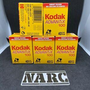 5x Kodak Advantix Ultra APS 100 40 exp expired film