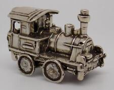 Vintage Solid Silver Italian Train Locomotive Miniature - Stamped - Italian Made