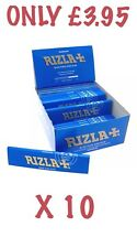 Rizla BLUE King Size Slim Cigarette Rolling Paper Genuine 10Booklets