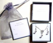 50 Fifty Shades of Grey Inspired SP Mask Necklace & Earring Set Gift Boxed
