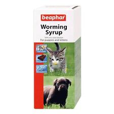 Beaphar Roundworm Worming Choc Syrup Puppy Kitten Pet Oral Wormer Treatment 45ml