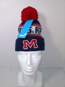 New NWT University Of Ole Miss Rebels College Logo Winter Hat Boys