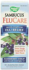 Nature's Way Sambucus FluCare Elderberry Syrup, 4 oz (Pack of 12)