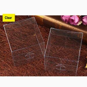 9 PK- 6 x 6x6 cm clear party favour box