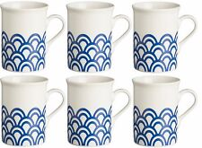 Rayware Set of 6 Blue Wave Mugs 30cl Coffee Mugs Tea Mugs