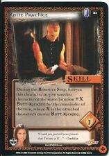 Buffy TVS CCG Limited Class Of 99 Common Card #21 Knife Practice