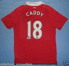 Manchester Utd / CADDY #18 2010-2011 Home - NIKE - MENS  Shirt / Jersey. Size: M