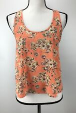 NEW Soprano Women's Top Size M Medium Sleeveless Scoop Neck Floral Print J1676
