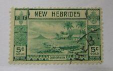 1911 New Hebrides Condominium SC #50 used stamp
