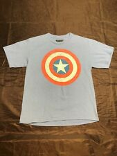 Boys' Captain America Shield T-Shirt Size: Youth XL Excellent Condition