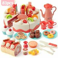 Lidasen Cake Toy Food Set, 83 PCS Cutting and Decorating Birthday Cake Pretend