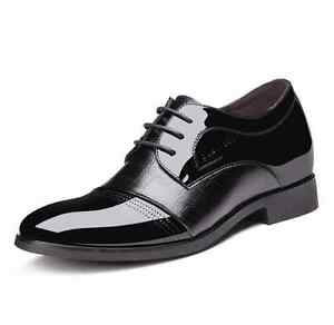 Men's Height Increasing Shoes Classic Patent Leather Dress Formal Oxfords Shoes