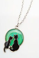 Love Cats Circular Shape Mood Colour Changing Necklace