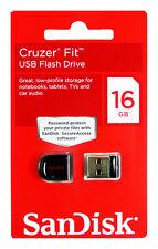 SanDisk Cruzer FIT 16GB 16G USB Flash Pen Drive Memory Stick Key Thumb Disk