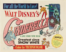 Cenicienta Walt Disney Culto Dibujos Animados Película Cartel Póster