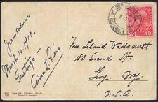 PALESTINE-AUSTRALIA OFFICES 1910 JERUSALEM TO NY ON COLOR POST CARD ON NAZARETH