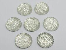 "20 Clear Resin Round Flatback Dotted Rhinestone Cabochon Gem 20mm(3/4"")"
