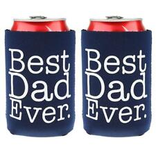 2pcs Funny BEST DAD EVER Beer Can Holder Cooler Fathers Day Gift