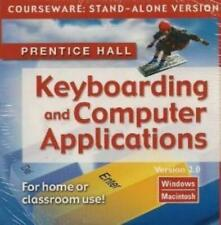 Prentice Hall Keyboarding & Computer Applications: Courseware 2 PC MAC CD type!