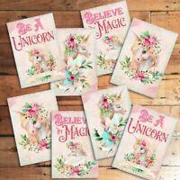 4x FELT Glitter Unicorn Craft Embellishments Scrapbooking Cardmaking Decoration