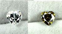 Natural White Sapphire,Green Tourmaline Gems Pair 4.40 Ct Heart Shape Certified