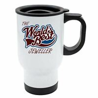 The Worlds Best Jeweller Thermal Eco Travel Mug - White Stainless Steel