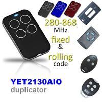 Wireless Automatic Cloning Garage Gate Door Remote Control 315/418/433/868MHZ
