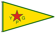 New listing People s Protection Units Ypg Flag 3x5ft banner