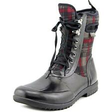 Bogs Sidney Lace Plaid Womens BOOTS Wellies - Black Multi All Sizes UK 4
