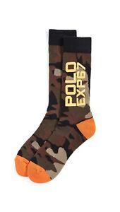 RARE Polo Ralph Lauren CAMO LIMITED EDITION Terrain EXP67 Crew Socks Spell Out