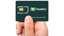 CHATSIM UNLIMITED - SIM CARD TO CHAT WITH WHATSAPP, Messenger, BBM, Telegram, 1