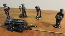 Set of 5 Liberty Falls Pewter Collection Figurines Short Perkins # Ah109 1996