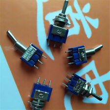 5Pcs ON-OFF-ON 3Pin 3Position Mini Ratching Toggle Switch AC 125V/6A