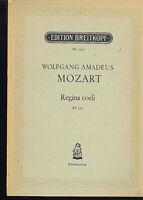 MOZART : Regina coeli KV 276 - Klavierauszug mit Text