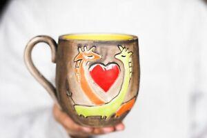 Giraffe mug Pottery mug Ceramic mug Giraffe gift Nature lover gift Coffee mug Af