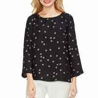 VINCE CAMUTO NEW Women's Printed Side Button Blouse Shirt Top SIZE S