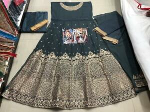 Heavy Embroidery Work Pakistani Indian Style Shalwar Kameez Anarkali Gown Suits