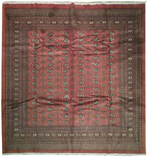 Fine Hand Knotted Bokhara 8x8 Square Rug KPSI 200