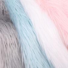 Long Rabbit Faux Fur Fabric Soft Plush Clothing Bag Sewing DIY Home Decor Craft