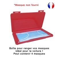 Boîte de rangement rouge pour masque