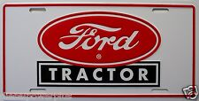Ford tractor license plate farm red logo field plow new truck auto tag