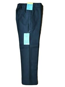 NEW Boys M&S School Trousers BLACK Age 3-17 yrs Marks Ultimate Skinny Fit Long