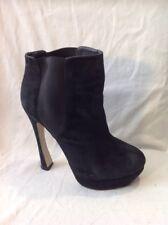 Soul Princess Black Ankle Suede Boots Size 39