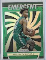 2019-20 Prizm Romeo Langford Green Refractor Rookie Emergent SP Insert No. 15