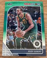 2019-20 Panini NBA HOOPS Premium Stock Rudy Gobert Green Prizm Utah Jazz