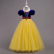 Snow White Costume Princess Gown Tutu Dress Girls Kids Cosplay Carnival Party